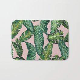Jungle Leaves, Banana, Monstera II Pink #society6 Bath Mat