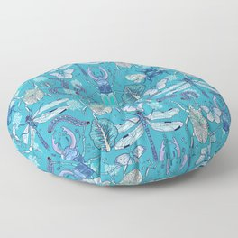 blue bugs Floor Pillow