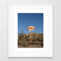 pocket fuel Framed Art Prints featuring Fuel Stop by Shy Photog