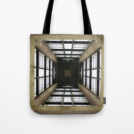 Inside the Clock Tower (day) Tote Bag