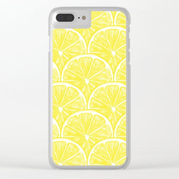 Lemon slices pattern design II Clear iPhone Case