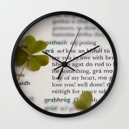 Love in Irish Wall Clock