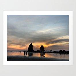 Canon Beach Sunset Art Print