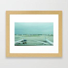 time of arrival Framed Art Print