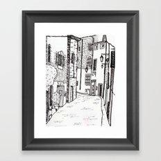 French Village Framed Art Print