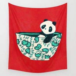 Dinnerware sets - panda in a bowl Wall Tapestry