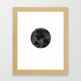 Full Moon, Planet,  Watercolour Art Framed Art Print