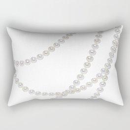 White Pearls Rectangular Pillow