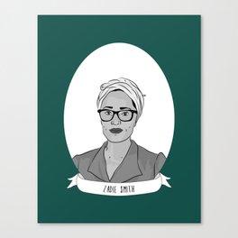 Zadie Smith Illustrated Portrait Canvas Print