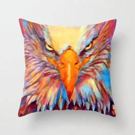 Bald Eagle Watercolor Throw Pillow