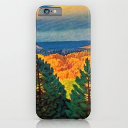 Across the Colorful Autumn Valley with Mountains by Rockwell Kent iPhone Case