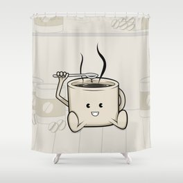 My favorite (food-cafe) Shower Curtain