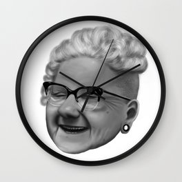 Hip Old Lady Wall Clock