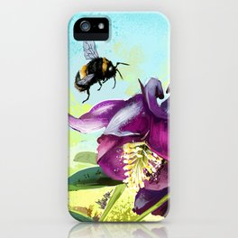 Bee flying 14 iPhone Case