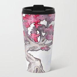 Red Tree Metal Travel Mug