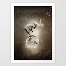 Space collection : True Love Art Print
