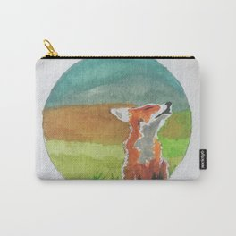 Rounded fox Carry-All Pouch