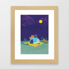 an autumn night Framed Art Print