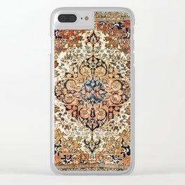 Ferahan Arak  Antique West Persian Rug Print Clear iPhone Case