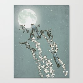 Flight of the Salary Men (color option) Canvas Print