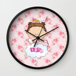 Baby Rose Is a Angel Wall Clock