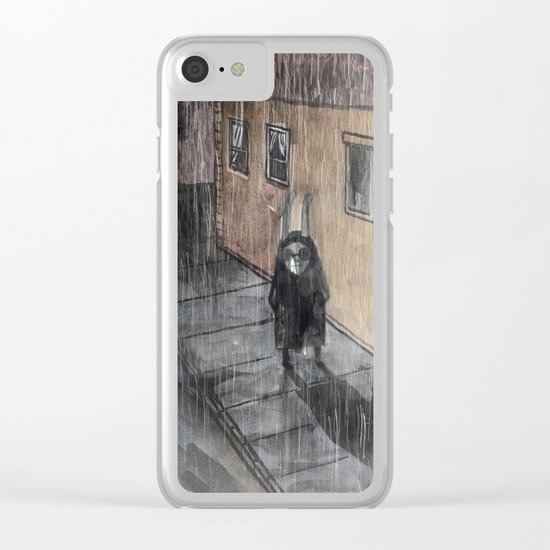 rainy day Clear iPhone Case