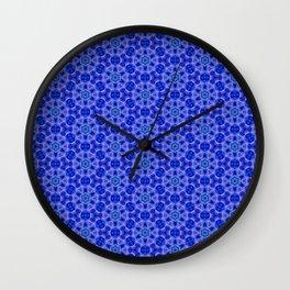 Intense blue pattern Wall Clock