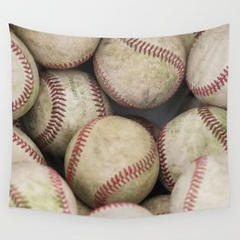 Many Baseballs - Background pattern Sports Illustration Wall Tapestry