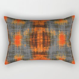 orange brown black and grey painting texture abstract background Rectangular Pillow