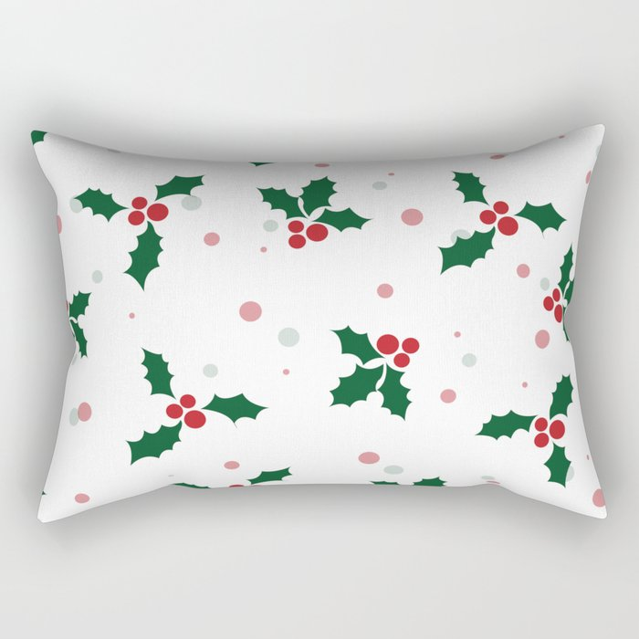 Holly tree pattern Rectangular Pillow