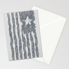 America Feather Flag Stationery Cards