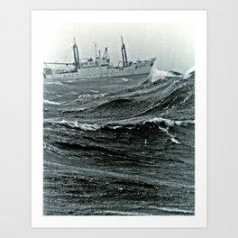 NOAA Ship DELAWARE II in basic crummy weather on Georges Bank Art Print