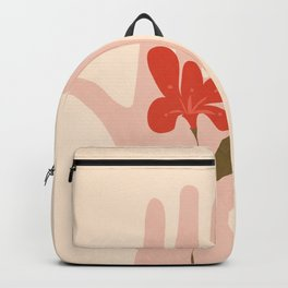 Flower on the Palm of the Hand Backpack