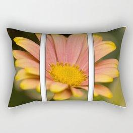 Orange Flower Triptych Rectangular Pillow