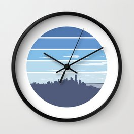 New York in the Spring Wall Clock