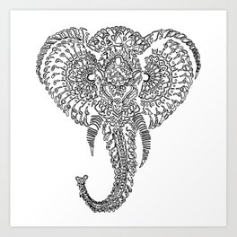 The Elephant Mask Art Print
