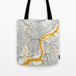Philadelphia map Tote Bag