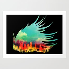 In Flying Colours Art Print