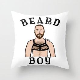 Beard Boy: Matthais 2 Throw Pillow