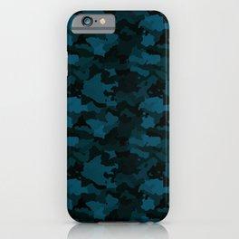Navy Blue Naval Marine Camo Camouflage Pattern iPhone Case