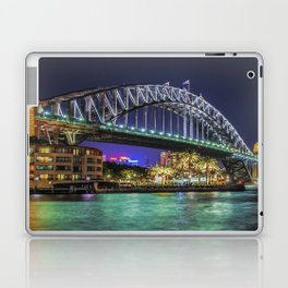 Sydney Harbor Bridge at Night Laptop & iPad Skin