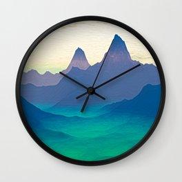 Green Valley Landscape Wall Clock
