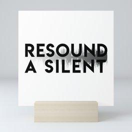 Resound a Silent Logo Light Mini Art Print