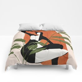Abstract Female Figure 20 Comforters