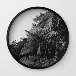 Colorless Ferns Wall Clock