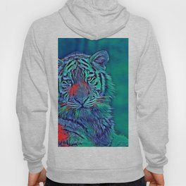 AnimalBlue_Tiger_007_by_JAMColors Hoody