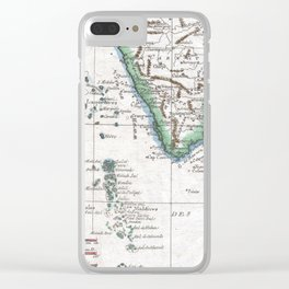 Vintage Maldives and Sri Lanka Map (1780) Clear iPhone Case