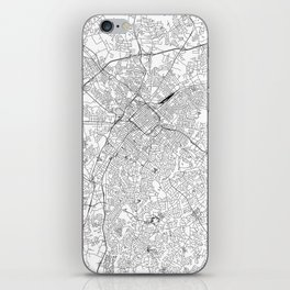 Charlotte White Map iPhone Skin