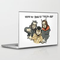 beastie boys Laptop & iPad Skins featuring Where The Beastie Things Are by Derek Salemme