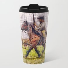 Cowboy and horse  Metal Travel Mug
